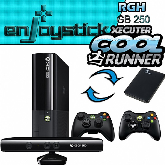 XBOX 360 250GB CONSOLE WITH KINECT RGH