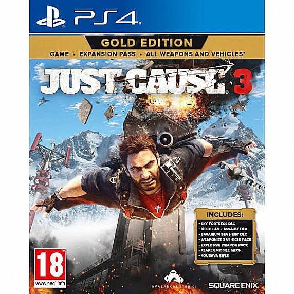 ps4 just cause 3 gold edition playstation 4. Black Bedroom Furniture Sets. Home Design Ideas
