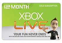 XBOX360 LIVE gold membership 12 month