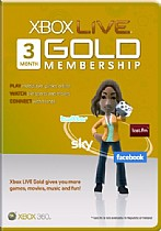 XBOX360 LIVE gold membership 3 month
